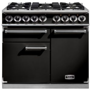Falcon F1000DXDFBL/CM F1000 Deluxe Dual Fuel Range Cooker - BLACK