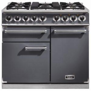 Falcon F1000DXDFSL/NM F1000 Deluxe Dual Fuel Range Cooker – SLATE