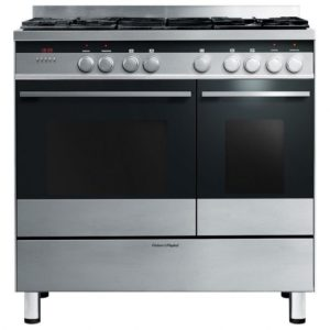 Bertazzoni PRO90-6-HYB-S-ART 90cm Professional Dual Fuel Range 6 Burner – ORANGE
