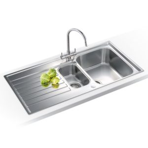 Franke KNG110 62 SS Kubus Single Bowl Fragranite Undermount Sink – STERLING SILVER