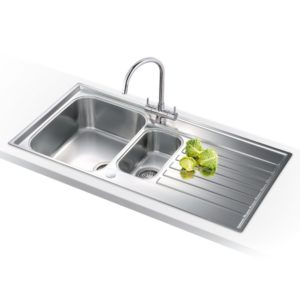 Franke KUBUS KBG160 SG Kubus 1.5 Bowl Fragranite Undermount Sink – STONE GREY