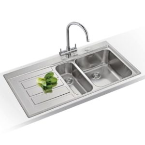 Franke KNG120 SS Kubus Fragranite 1.5 Bowl Sink Right Hand Small Bowl – SILVER