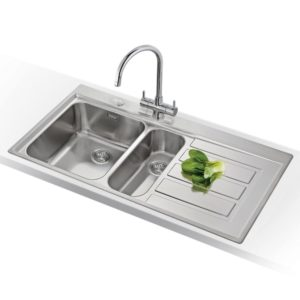 Franke KNG120 LG Kubus Fragranite 1.5 Bowl Sink Right Hand Small Bowl – GREY