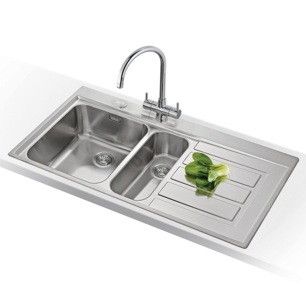 Image of Franke EPOS EOX651 RHD Epos 1.5 Bowl Sink Right Hand Drainer - STAINLESS STEEL