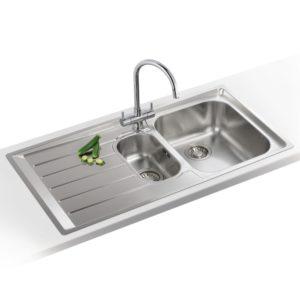 Franke NEPTUNE NEX251 LHD Neptune 1.5 Bowl Sink Left Hand Drainer – STAINLESS STEEL