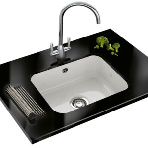 Franke FRANKE BY V+B VBK110 50 Single Bowl Ceramic Sink – WHITE