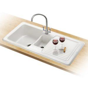 Franke VILLEROY AND BOCH VBK651 RHD 1.5 Ceramic Sink Right Hand Drainer – WHITE