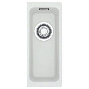 Franke KUBUS KBG110 16 PW Kubus Single Bowl Fragranite Undermount Sink – WHITE