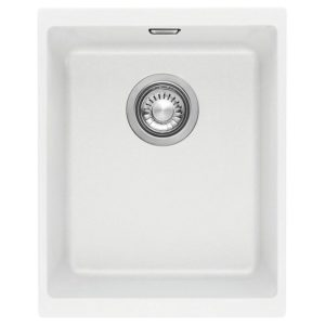 Franke KUBUS KBG110 34 PW Kubus Single Bowl Undermount Sink - WHITE