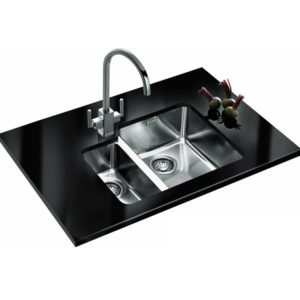 Franke KUBUS KBX160 34-16 LHSB Kubus 1.5 Bowl Sink Left Hand Small Bowl - SILKSTEEL
