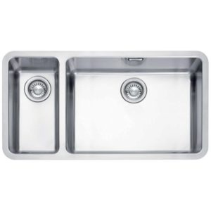 Franke KUBUS KBX160 55-20 LHSB Kubus 1.5 Bowl Sink Left Hand Small Bowl – SILKSTEEL