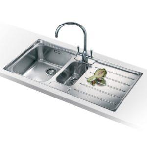 Franke LASER LSX651 RHD Laser 1.5 Bowl Sink Right Hand Drainer - SILKSTEEL