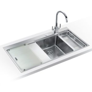Franke MYTHOS SLIM-TOP MMX261 LHD Mythos 1.5 Bowl Sink Left Hand Drainer - SILKSTEEL