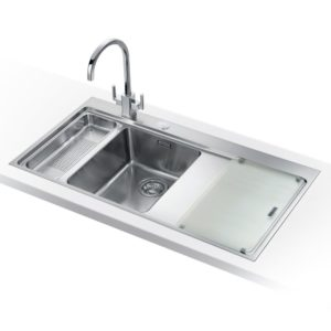 Franke MTG651-100 RHD PW Mythos Fragranite Sink 1.5 Bowl Right Hand Drainer – WHITE