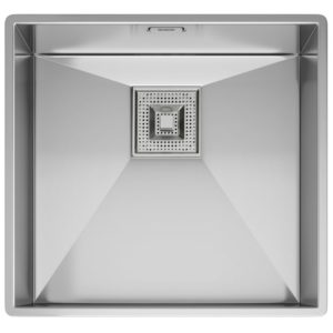Franke PEAK PKX110 45 Peak Single Bowl Undermount Sink - SILKSTEEL