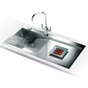 Franke PLANAR SLIM-TOP PPX211 RHD Planar Sink Right Hand Drainer - SILKSTEEL