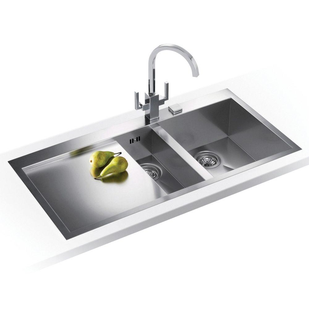 Franke PLANAR SLIM TOP PPX251 LHD Planar 1.5 Bowl Sink Left Hand Drainer    SILKSTEEL   Appliance City