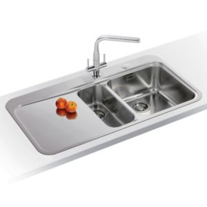 Franke KNG120 CGR Kubus Fragranite 1.5 Bowl Sink Right Hand Small Bowl – COPPER
