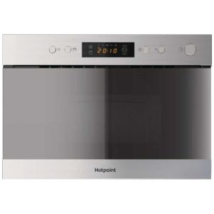 Hotpoint MN314IXH 60cm Built In Microwave & Grill For Wall Unit - STAINLESS STEEL