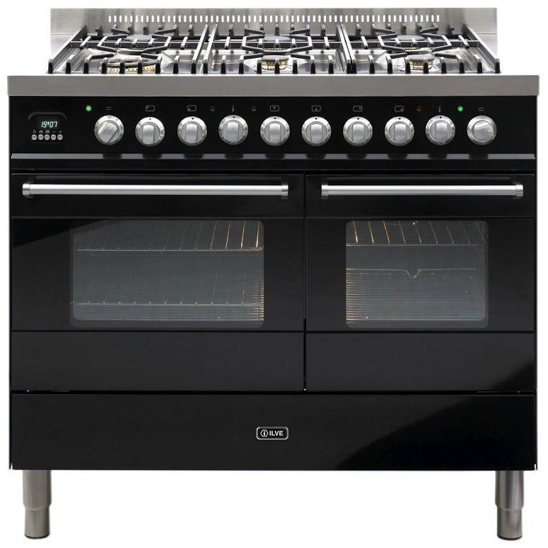 8fb80b3340 Ilve KD-1006-MP-BLK 100cm Ultimo Dual Fuel Range Cooker - BLACK - Appliance  City