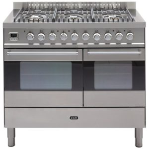 Ilve KD-1006-MP-SS 100cm Ultimo Dual Fuel Range Cooker - STAINLESS STEEL