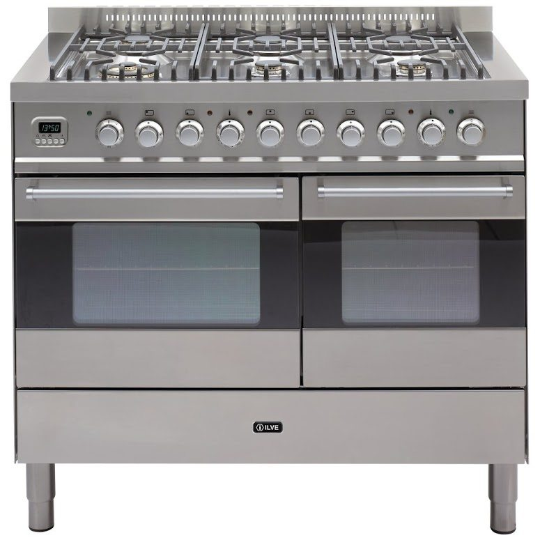 f91b750a2c Ilve KD-1006-MP-SS 100cm Ultimo Dual Fuel Range Cooker - STAINLESS STEEL -  Appliance City