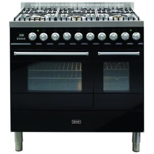 Ilve KD-906-MP-BLK 90cm Ultimo Dual Fuel Range Cooker - BLACK