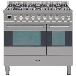 Ilve KD-906-MP-SS 90cm Ultimo Dual Fuel Range Cooker - STAINLESS STEEL