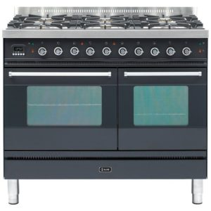Ilve PD-1006-MP-GRA 100cm Moderna Dual Fuel Range Cooker – GRAPHITE