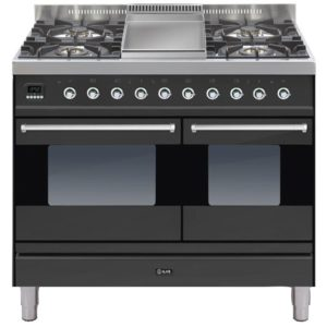Ilve PD-100F-MP-GRA 100cm Moderna Dual Fuel Range Cooker With Fry Top - GRAPHITE