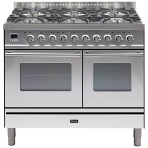 Ilve PDW-1006-E3-SS 100cm Roma Dual Fuel Range Cooker – STAINLESS STEEL