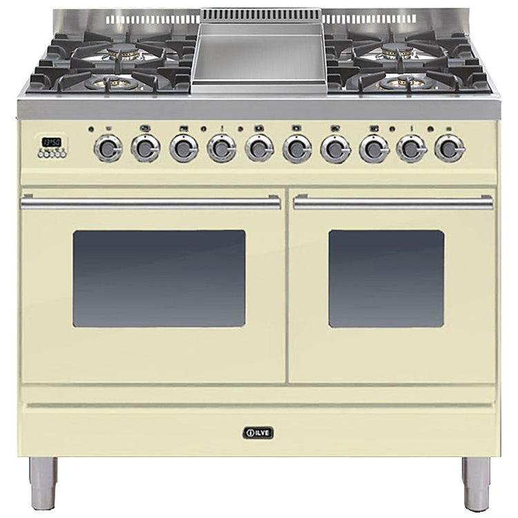 ilve pdw 100f e3 cr 100cm roma dual fuel range cooker with. Black Bedroom Furniture Sets. Home Design Ideas