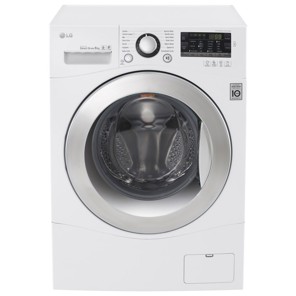 lg fh4a8tdn2 8kg direct drive washing machine 1400rpm appliance city. Black Bedroom Furniture Sets. Home Design Ideas