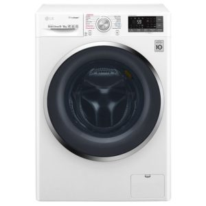 LG F4J8FH2W 9kg Eco Hybrid Direct Drive Steam Washer Dryer - WHITE