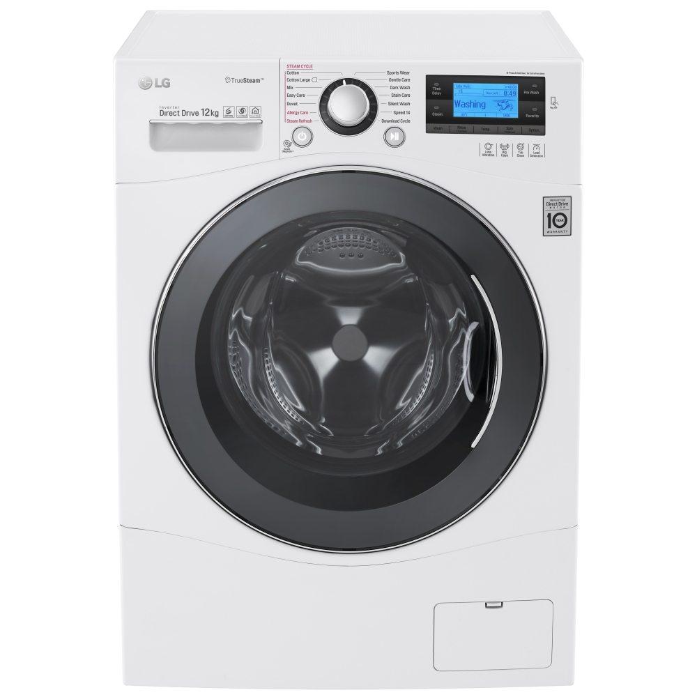 LG FH495BDS2 12kg Direct Drive TrueSteam Washing Machine ...