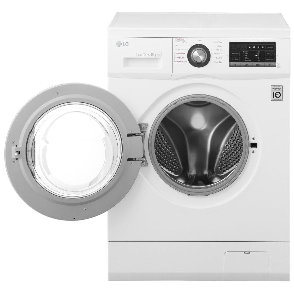 LG FH4G6TDY2 8kg Steam Direct Drive Washing Machine ...