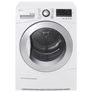 LG RC9055AP2F 9kg Heat Pump Condenser Tumble Dryer - WHITE