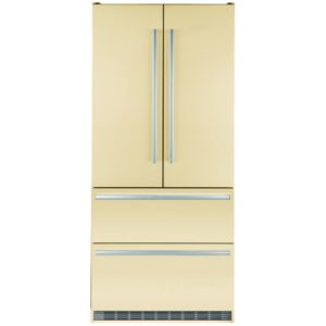 Liebherr CBNBE6256 French Style Fridge Freezer With Biofresh - CREAM