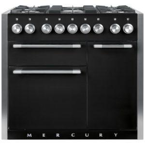 Mercury MCY1000DFAB 93130 100cm Dual Fuel Range Cooker – BLACK