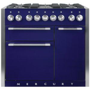 Mercury MCY1000DFBB 93190 100cm Dual Fuel Range Cooker – BLUEBERRY