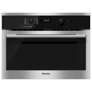 Miele H6100BMCLST 60cm Compact Combi Microwave For Tall Housing - STAINLESS STEEL