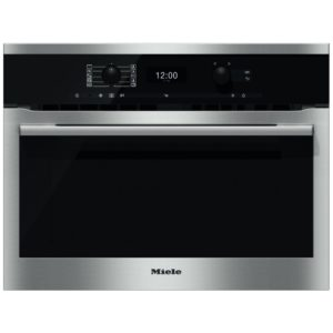 Miele H6300BMCLST 60cm Compact Combi Microwave For Tall Housing - STAINLESS STEEL