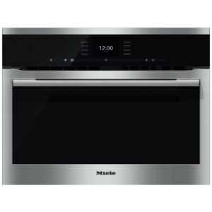 Miele H6500BMCLST 60cm Compact Combi Microwave For Tall Housing - STAINLESS STEEL