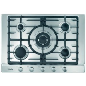 Miele KM2032SS 75cm Five Zone Gas Hob With Wok Burner - STAINLESS STEEL