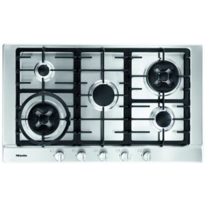 Miele KM2054SS 90cm Five Zone Gas Hob With Wok Burner – STAINLESS STEEL