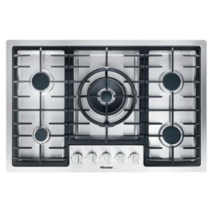 Miele KM2335 77cm Five Burner Flush Fit Gas Hob - STAINLESS STEEL