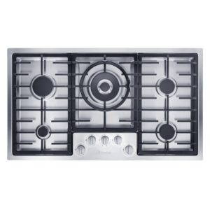 Miele KM2357SS 89cm Flush Fit 5 Zone Gas Hob – STAINLESS STEEL