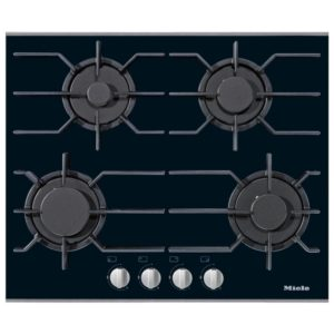 Miele KM3010 63cm Four Zone Gas On Glass Hob – STAINLESS STEEL