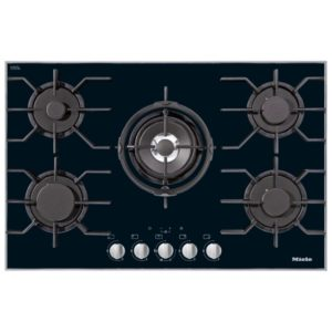 Miele KM3034 80cm Five Zone Gas On Glass Hob – STAINLESS STEEL