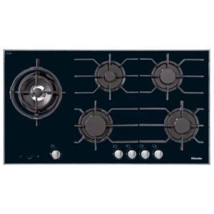 Miele KM3054 93cm Five Zone Gas On Glass Hob – STAINLESS STEEL